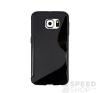 utángyártott Samsung G935 Galaxy S7 Edge szilikon tok S-line, fekete tok és táska