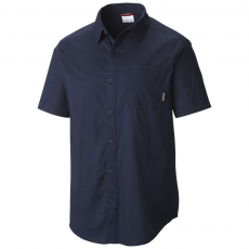 Columbia Thompson Hill Solid Short Sleeve Shirt Ing D (1577601-o_464-Collegiate Navy)