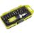 Extol racsnis BIT csavarhúzó klt.; 38db-os, CrV., irányváltós, mágneses, műanyag dobozban