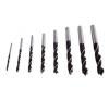 fafúró klt., műanyag tartóban; 8db, 3,4,5,6,7,8,9,10mm fúrógép