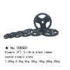 m-tech (H) X100501 Olimpiai, 50 mm-es, gumis öntöttvas dizájn súlytárcsa, 15kg
