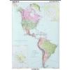 Stiefel Észak- és Dél-Amerika politikai térképe (angol)