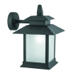 SEARCHLIGHT 3315-1BK 1LT OUTDOOR WALL LANTERN, BLACK, FROSTED GLASS