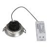 Schrack Technik SHRACK TECHNIK NEW TRIA LED DL ROUND SET, csiszolt alu., 6W, 3000K, 38°- LI113906