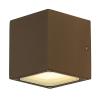 Schrack Technik SHRACK TECHNIK  SITRA CUBE fali lámpatest, rozsdaszínű, GX53, max. 9W- LI232537