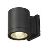 Schrack Technik LI228515   ENOLA_C OUT Wl falra, kerek, antracit, 9W LED, 3000K, 35°