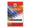 """KOH-I-NOOR Színes ceruza készlet, henger alakú, famentes, KOH-I-NOOR """"Progresso 8756/12"""", 12 különböző szín színes ceruza"""