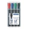 """STAEDTLER Alkoholos marker készlet, 2-5 mm, vágott, STAEDTLER """"Lumocolor 350"""", 4 különböző szín"""
