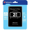 "Verbatim 2,5"" HDD (merevlemez), 2TB, USB 3.0, VERBATIM, fekete"