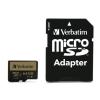 "Verbatim Memóriakártya, microSDXC, 64GB, Class 10 UHS I, adapterrel, VERBATIM ""PRO+"""
