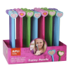 "APLI Grafit ceruza display, 2B, radírral, figurás, APLI ""Kids"", szívek"
