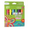 """APLI Tempera stift készlet, toll alakú, APLI """"Kids"""", 6 különböző fluoreszkáló szín"""
