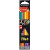 """MAPED Színes ceruza készlet, háromszögletű, MAPED """"Color\´Peps Fluo"""", 6 különböző szín"""