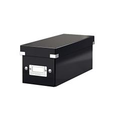 """Leitz CD tároló doboz, lakkfényű, LEITZ """"Click&Store"""", fekete papírárú, csomagoló és tárolóeszköz"""