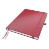 """Leitz Jegyzetfüzet, exkluzív, A4, kockás, 80 lap, keményfedeles, LEITZ """"Complete"""", piros"""