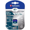 "Verbatim Memóriakártya, SDXC, 64GB, Class 10 UHS-I, 90/45MB/sec, VERBATIM ""PRO"""