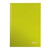 """Leitz Beíró, A4, vonalas, 80 lap, keményfedeles, lakkfényű, LEITZ """"Wow"""", zöld"""