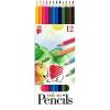 """ICO Színes ceruza készlet, hatszögletű, ICO """"Süni"""", 12 különböző szín"""