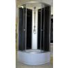 Aqualife Opal 509 C fekete zárt zuhanykabin mély tálcával, 90x90 cm-es méretben tetővel