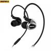 toks-shop.hu Vezetékes sztereó fülhallgató, 3.5 mm jack, felvevő és hangerő gomb, Remax RM-S1, fekete