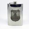 Óncímkés fém flaska, lapos üveg Mosonmagyaróvár