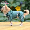 Kutyaruha, kapucnis vízálló esőkabát zöld, háthossz 29 cm