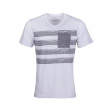 Fundango V-Neck T Line T-shirt D (1TO102_100-white)