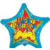 Happy Birthday ! fólia lufi 45 cm (20166)-1 oldalas