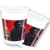 Star wars műanyag pohár piros, 2 dl-s (8 db)