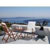 Beliani Fa kerti bútor szett - Terasz bútor - Kerti asztal - 2 db. szék párnákkal - Bézs - TOSCANA
