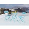 Beliani Kék kerti bútor szett - Terasz bútor - Kerti asztal - 2 db. szék - acél - FIORI