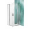 Roltechnik Tower Line TDO1 fix falas aszimmetrikus zuhanykabin, 2 nyílóajtóval 80x100, ragyogó profillal