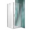 Roltechnik Tower Line TDO1 aszimmetrikus  zuhanykabin egy ajtóval és oldalfallal 120x100, ezüst profillal