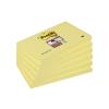 """3M POSTIT Öntapadó jegyzettömb csomag, 76x127 mm, 6x90 lap,  """"Super Sticky"""", sárga"""