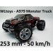 WLtoys A979 - Monster Truck Off Road RC autó: 253 mm hossz, 50+ km/h!