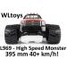 WLtoys L969 - High Speed Monster RC autó: 395 mm hossz, 40+ km/h!