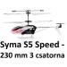 Syma S5 Speed, 3 csatorna, nagy sebesség dupla rotor 230 mm-es méret
