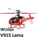 WLtoys v915 Lama 42 cm hossz, szompla rotor, 4 csatorna, magávalragadó, élethű design