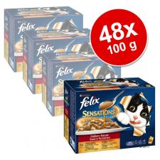 FELIX Sensations szószos falatok 48 x 100 g - Hús-választék macskaeledel
