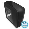 "NZXT Phantom 240 Window Matte Black Matte Black,3x5,25"",6x3,5"",6x2,5"",ATX,2xUSB3.0,Audio,Táp nélkül,195x530x529mm,Window"