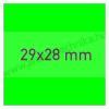 29×28mm FLUO zöld árazócímke / 700db/tek