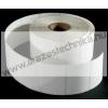 40×25 mm műanyag öntapadós címke / PE Matt WHITE