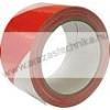 Padlójelölő szalag 50mm×33fm piros/fehér öntapadós jelölőszalag