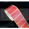 50×25mm THERMO címke / PIROS / 1000 db/tek