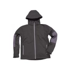 TK53 - Softshell dzseki kapucnival - fekete