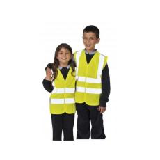JN14 - Jól láthatósági két csíkos mellény gyerekek részére - sárga