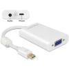 DELOCK Adapter mini Displayport 1.1-dugós csatlakozó > VGA-csatlakozóhüvely + Audió +...