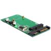 DELOCK Converter SATA 22 Pin / USB 2.0 > mSATA full size (62493)