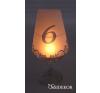 Boros pohár lámpaernyő és asztalszám 2 az 1-ben világítás