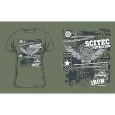 Scitec Nutrition T-Shirt Made Of Iron férfi zöld póló M Scitec Nutrition